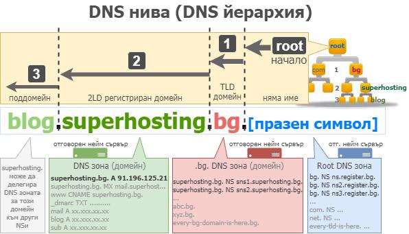 Нива в DNS йерархията