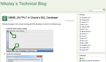 DBMS_OUTPUT in Oracle's SQL Developer » Nikolay´s Technical Blog