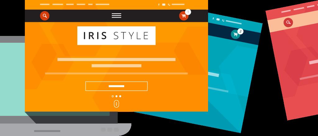 iris дизайн за онлайн магазин