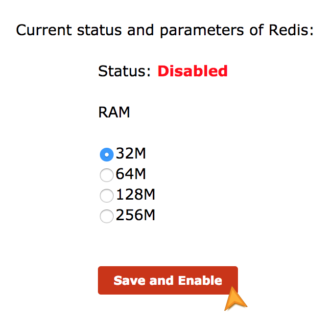 Activate Redis in cPanel