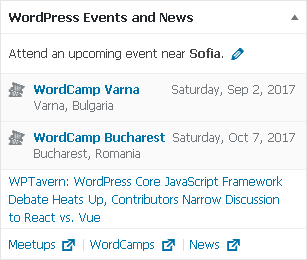 WordPress events near user's location