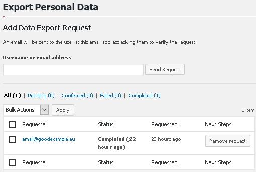 Обработка на заявки за изтегляне на данни