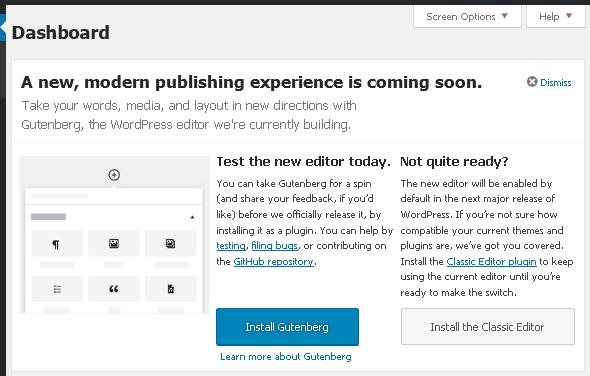 Призив за тестване на Gutenberg в WordPress 4.9.8