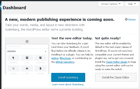 Призив за тестване на Gutenberg в WordPress 4.9.8