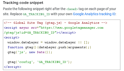 Проследяващият JS код на Analytics