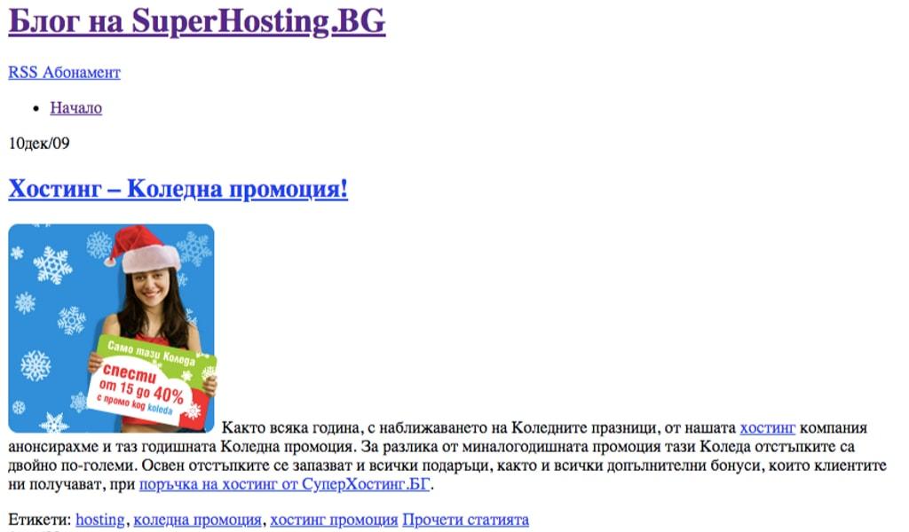 Блогът през 2009