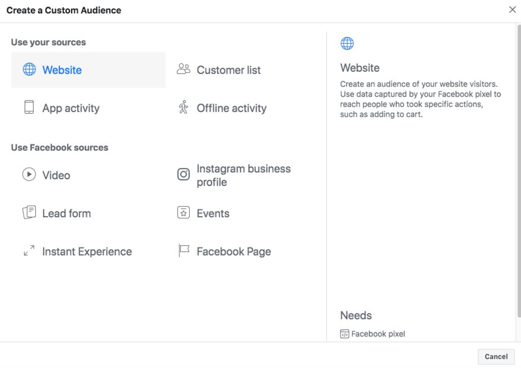 Аудитория за посетители на сайта във Facebook