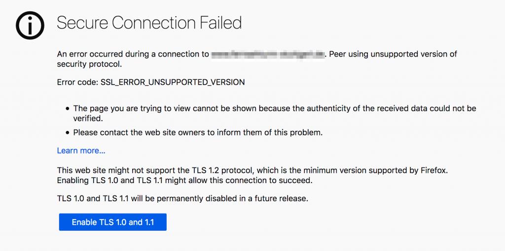 Съобщение в браузъра, че връзката не е сигурна.
