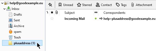Нова папка, създадена автоматично при получаване на писмо.