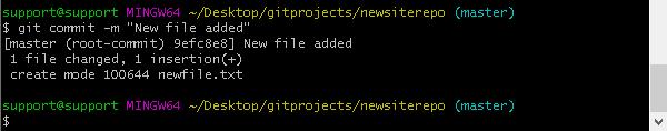 Публикуване (commit) на промените в хранилището.