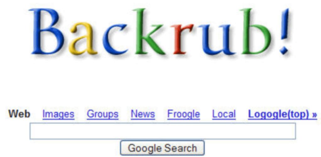 BackRub е Google