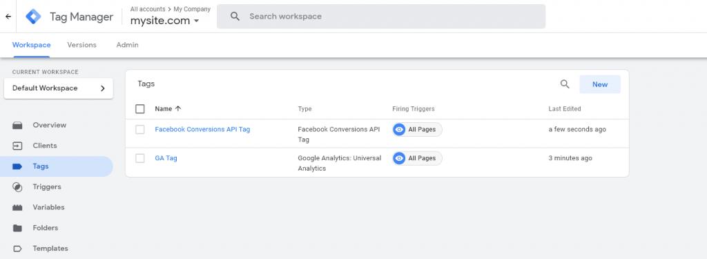 През Tag мениджъра можете да обновявате таговете без нужда да редактирате кода в сайта.