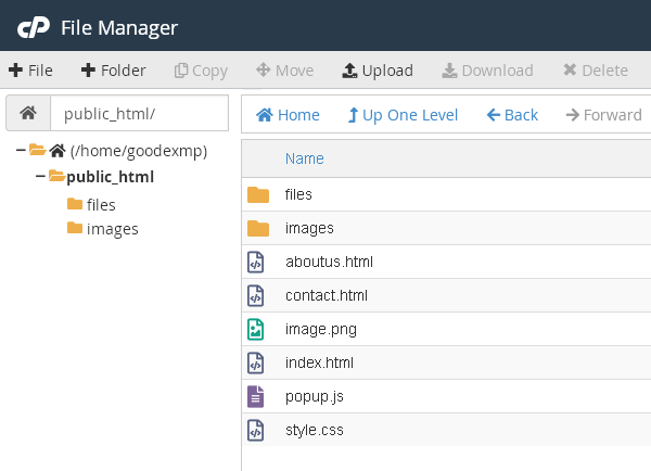 статичен уеб сайт - файловете се намират на сървъра и са предварително създадени